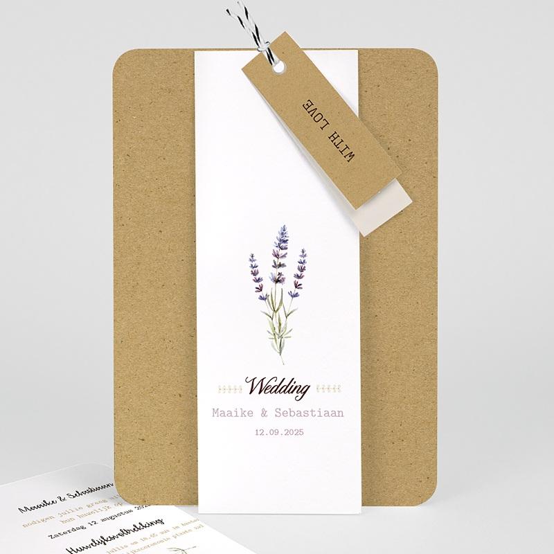 Landelijke trouwkaarten - Lavendel 57714 thumb