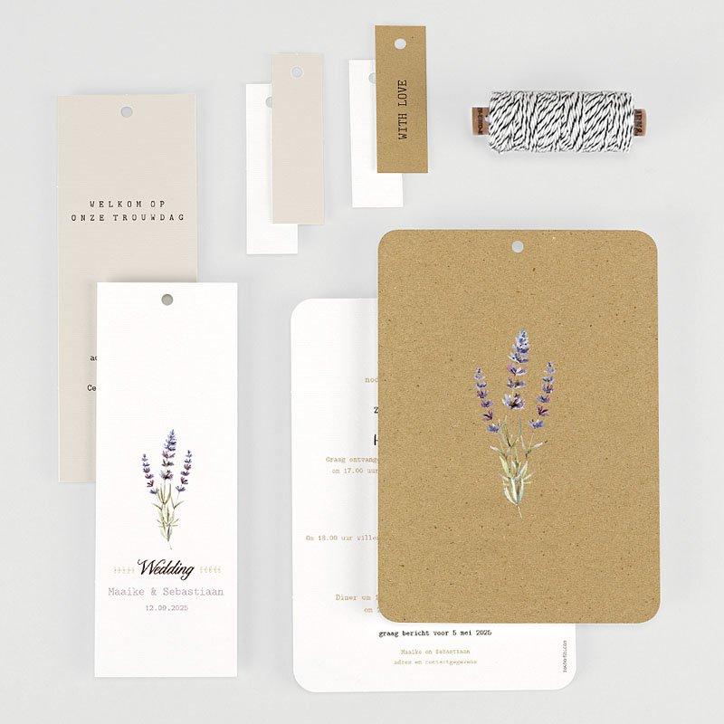 Landelijke trouwkaarten - Lavendel 57716 thumb