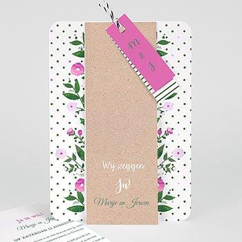 Landelijke trouwkaarten - Romantische bloemen - 0