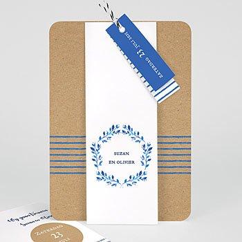 Landelijke trouwkaarten - Mediterrane stijl - 0