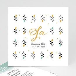 Klassieke trouwkaarten Harmonie