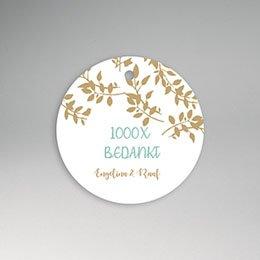 Etiket huwelijk Gouden bladeren
