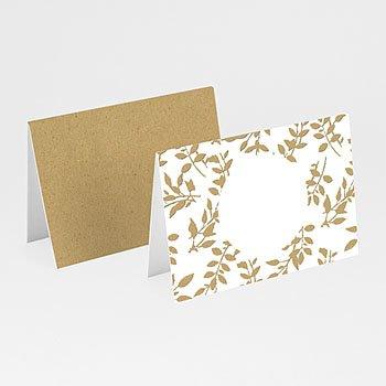 Tafelkaartjes huwelijk - Nature White Kraft - 0