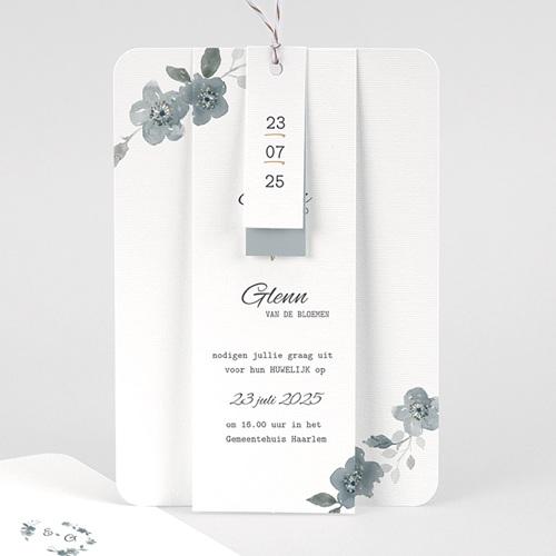 Chique trouwkaarten - Botanisch blauw 58088 thumb