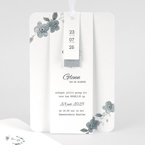 Chique trouwkaarten - Botanisch blauw 58089 thumb
