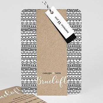 Creatieve trouwkaarten - Etnische stijl & Kraft - 0