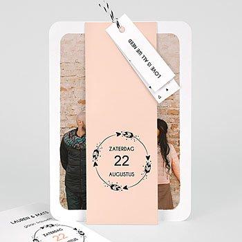 Trouwkaarten met foto - Krans boho - 0
