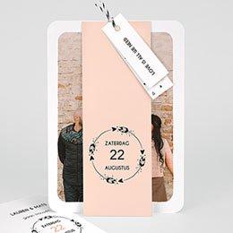 Trouwkaarten met foto Krans boho