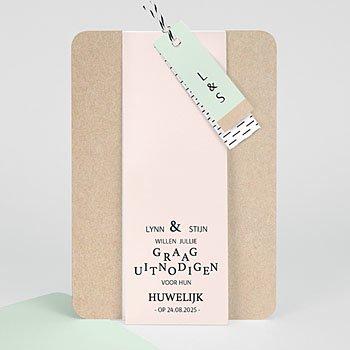 Creatieve trouwkaarten - Kraft en Color - 0