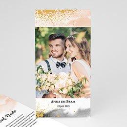 Bedankkaartjes Huwelijk Aquarello
