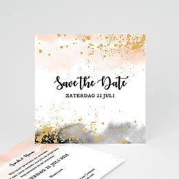 Save the date Huwelijk Aquarello