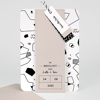 Creatieve trouwkaarten - Abstracte vormen - 0