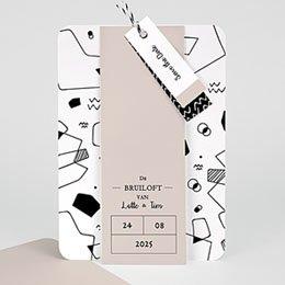 Creatieve trouwkaarten Abstracte vormen