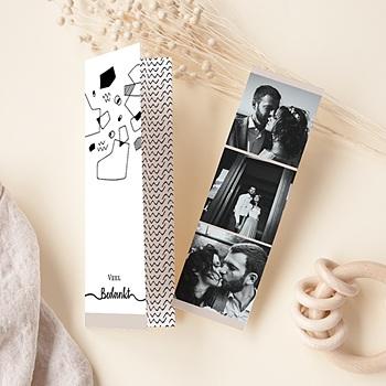 Creatieve bedankkaartjes huwelijk - Abstracte vormen - 0