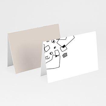 Tafelkaartjes huwelijk - Abstracte vormen - 0