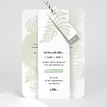 Landelijke trouwkaarten - Groene aquarel - 0