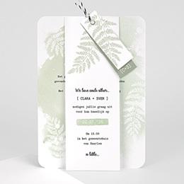 Aankondiging Huwelijk Groene aquarel