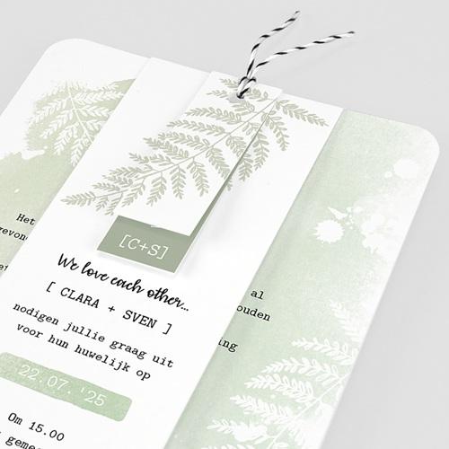 Landelijke trouwkaarten - Groene aquarel 58417 thumb