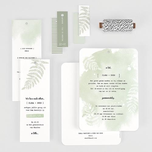 Landelijke trouwkaarten - Groene aquarel 58418 thumb