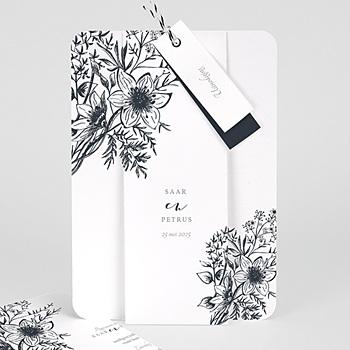 Vintage trouwkaarten - Gestileerde bloemen - 0