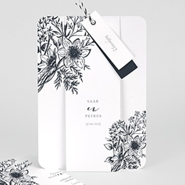 Aankondiging Huwelijk Gestileerde bloemen