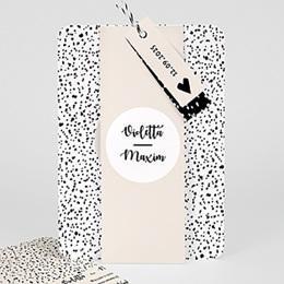 Creatieve trouwkaarten Zwart-wit stippen