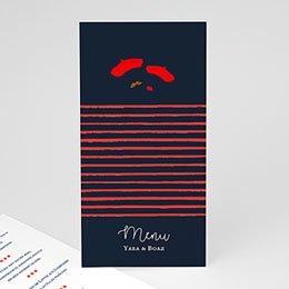 Personaliseerbare menukaarten huwelijk French Flair