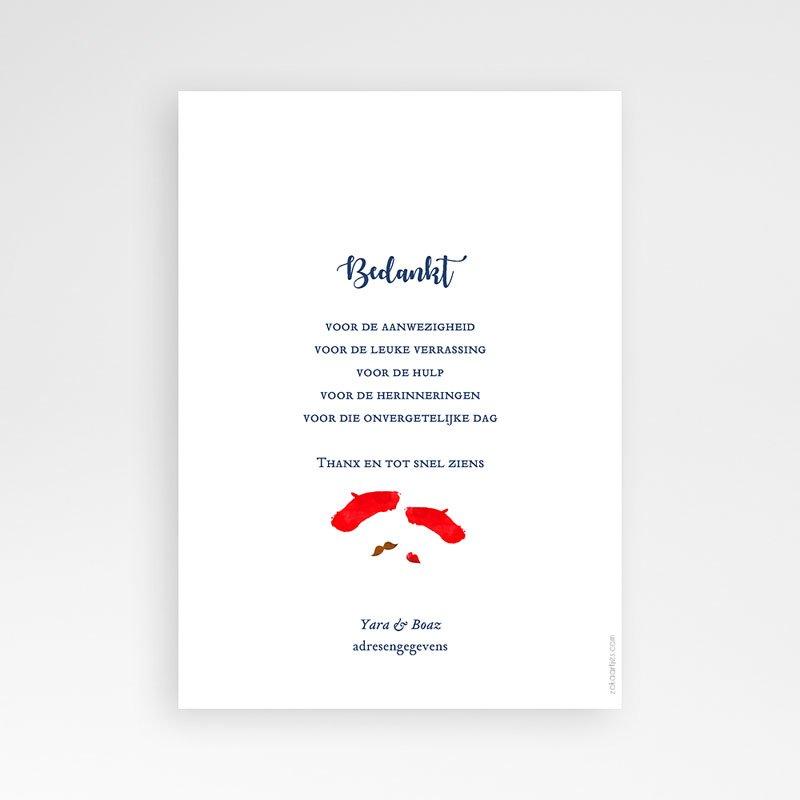 Originele bedankkaarten huwelijk - French Flair 58528 thumb