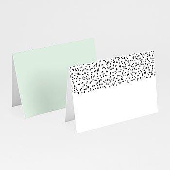 Tafelkaartjes huwelijk - Zwart-wit stippen - 0