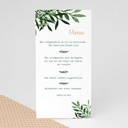 Personaliseerbare menukaarten huwelijk Creatieve Natuurlijke Stijl