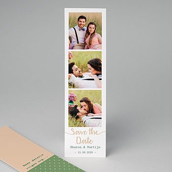 Save the date kaartjes - Creatieve Natuurlijke Stijl - 0