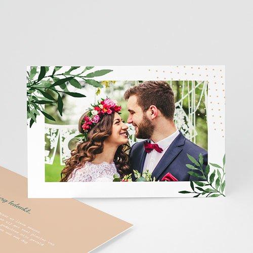 Bedankkaarten huwelijk met foto Creatieve Natuurlijke Stijl