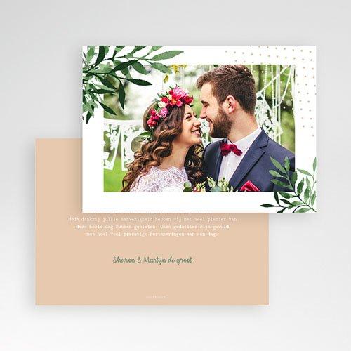 Bedankkaarten huwelijk met foto Creatieve Natuurlijke Stijl pas cher