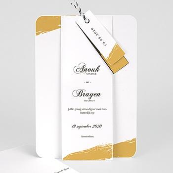 Klassieke trouwkaarten - Goud folie Brushes - 0