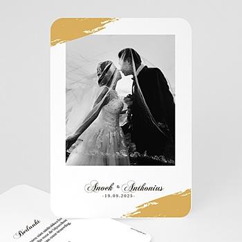 Exclusieve bedankkaarten huwelijk - Goud folie Brushes - 0