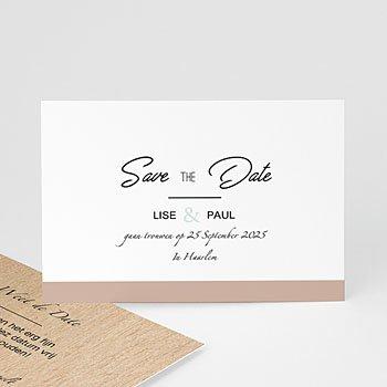 Save the date kaartjes - Gekleurd hout - 0