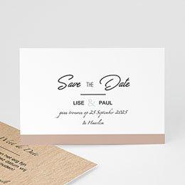 Save the date kaartjes Gekleurd hout