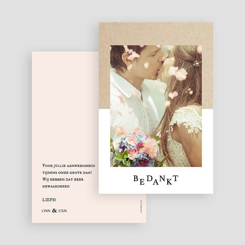Bedankkaarten huwelijk met foto - Kraft en Color 58710 thumb