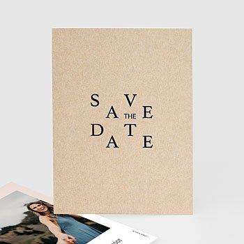 Save the date kaartjes - Kraft en Color - 0
