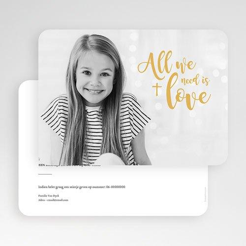 Uitnodiging communie meisje - Love Jesus 58761 thumb