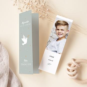 Uitnodiging communie jongen - Vredesambassadeur - 0