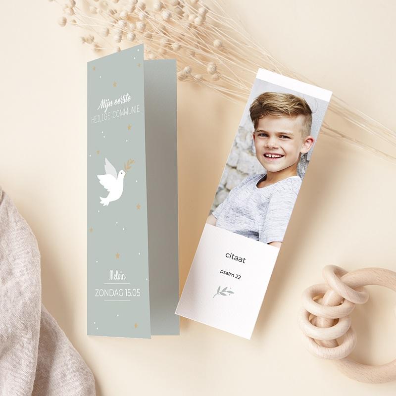 Uitnodiging communie jongen Vredesambassadeur