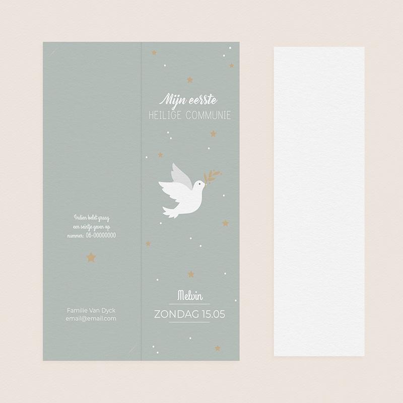 Uitnodiging communie jongen - Vredesambassadeur 58771 thumb