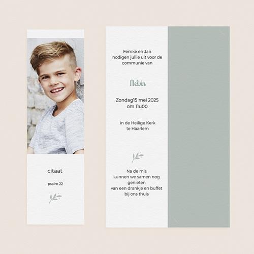 Uitnodiging communie jongen - Vredesambassadeur 58772 thumb