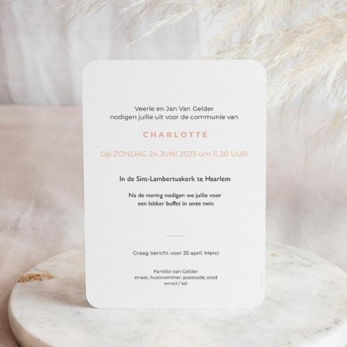 Uitnodiging communie meisje - Miskelk 58781 thumb