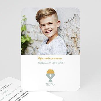 Uitnodiging communie jongen Miskelk Jongen