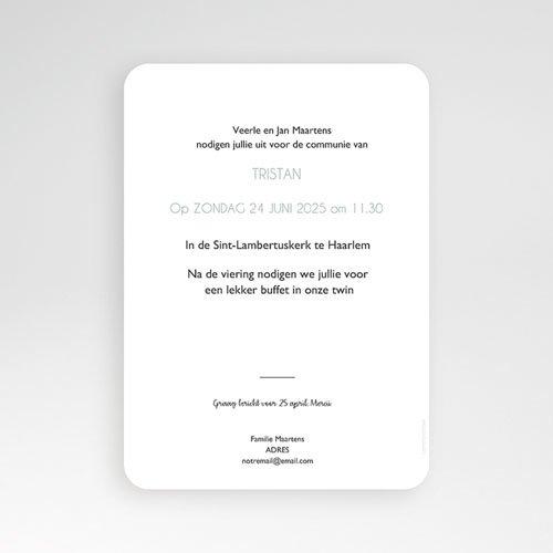 Uitnodiging communie jongen - Miskelk Jongen 58808 thumb