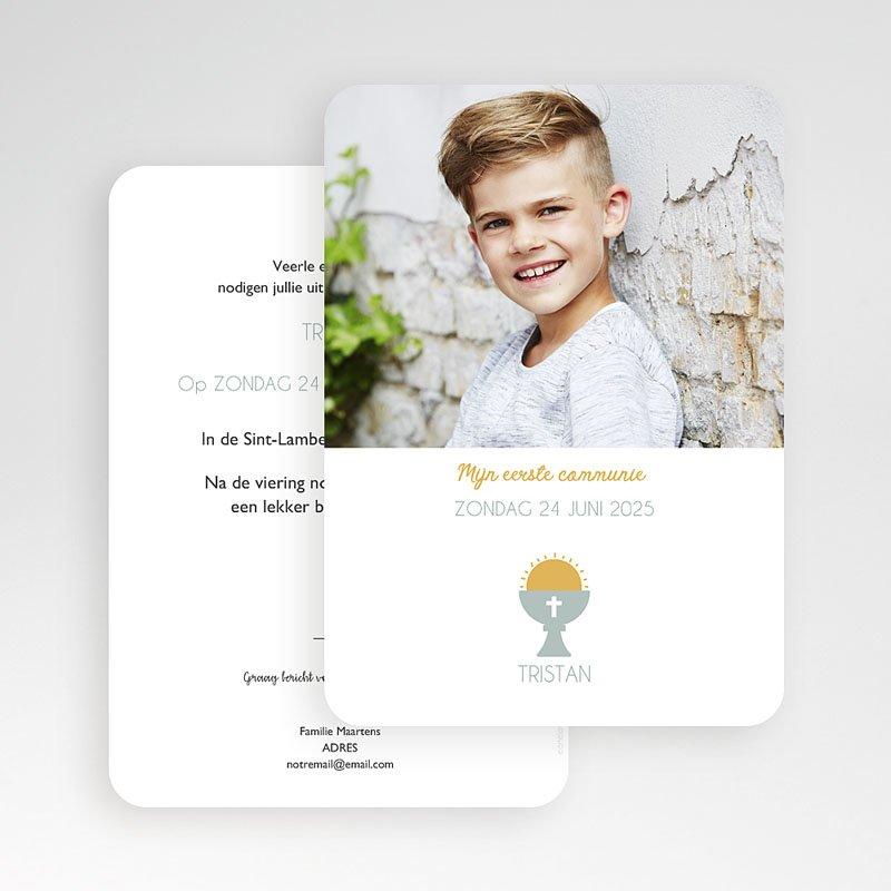 Uitnodiging communie jongen - Miskelk Jongen 58809 thumb