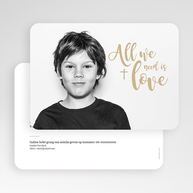 Uitnodiging communie jongen - Jesus loves me 58818 thumb