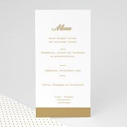 Personaliseerbare menukaarten huwelijk Gouden Ja